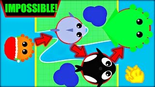 MOPE.IO IMPOSSIBLE CHALLENGE | ALL ANIMALS OCEAN TO OCEAN CHALLENGE |MOPE.IO NEW UPDATE(Mope.io)