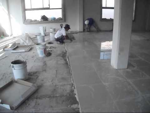 Colocacion de piso porcelanato 0 youtube for Pisos en azuqueca de henares
