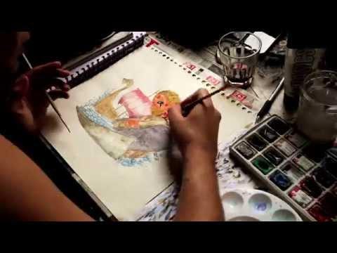 Floki speed painting/timelapse video - Vikings (HD)