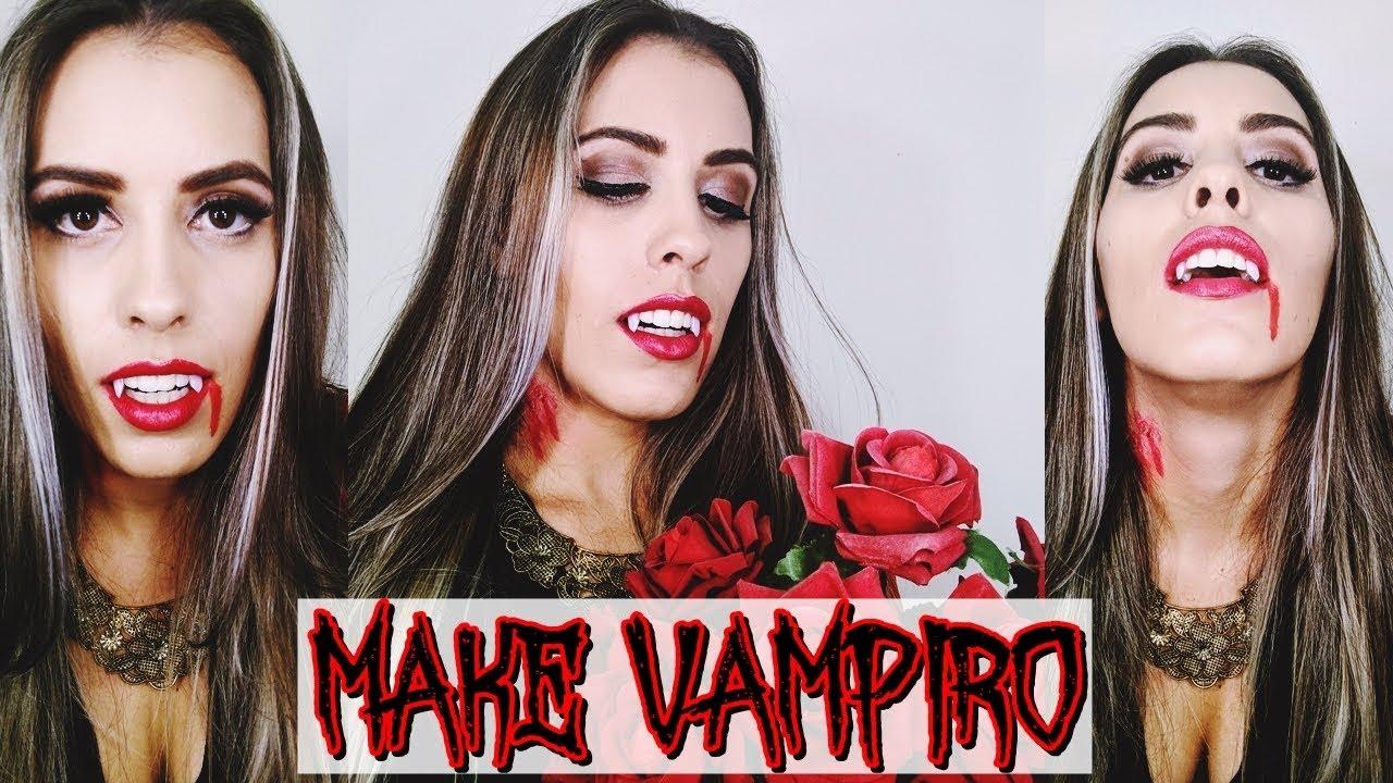 Vampire Makeup Faça Sua Fantasia Sem Gastar Nada Youtube