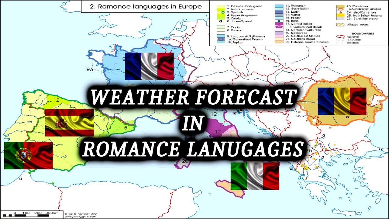 Weather Forecast In 5 Romance Languages