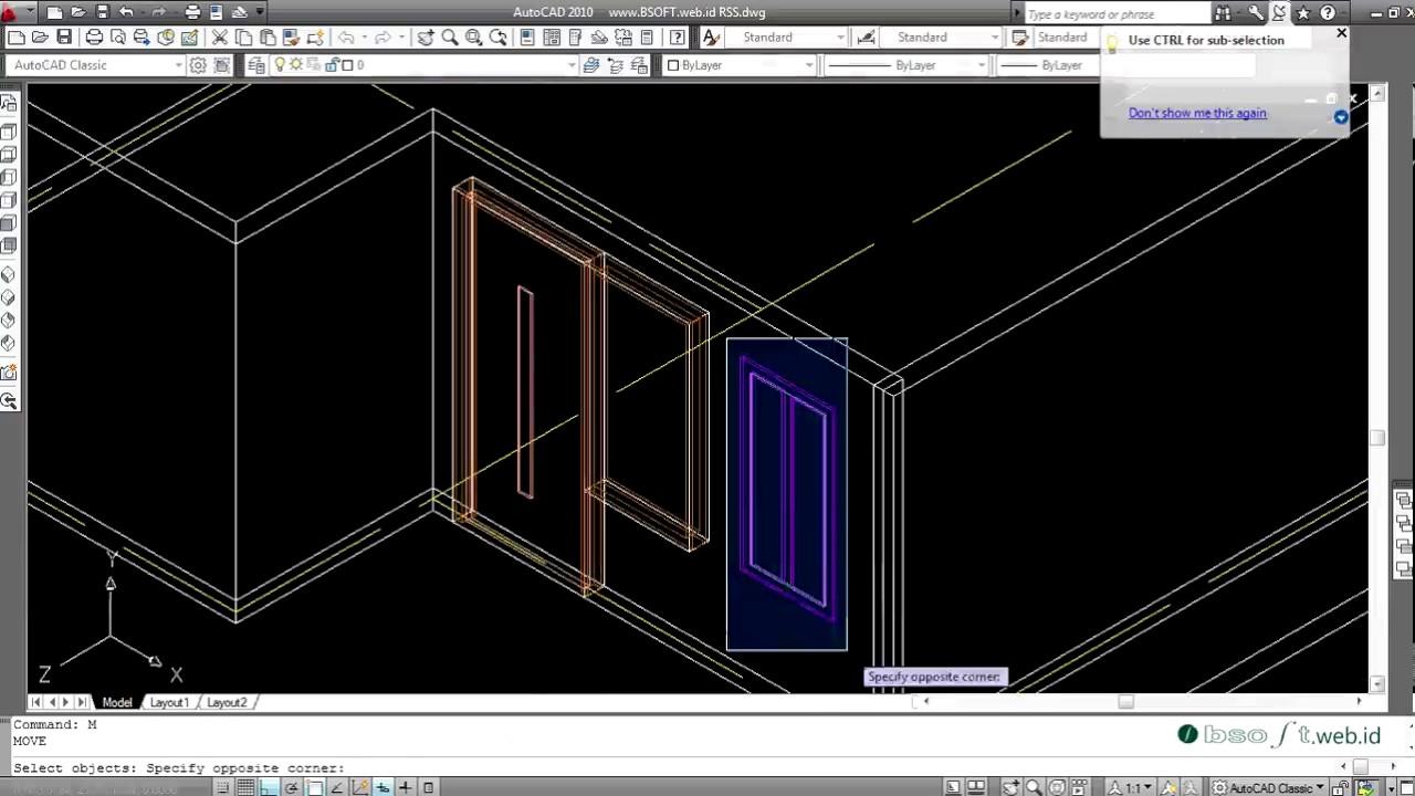 tutorial autocad 3d bahasa indonesia membuat rumah sederhana untuk