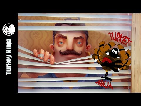 Turkey Ninja Plays Ding-Dong-Ditch with Hello Neighbor.  With special guest: Jacek and Rocky