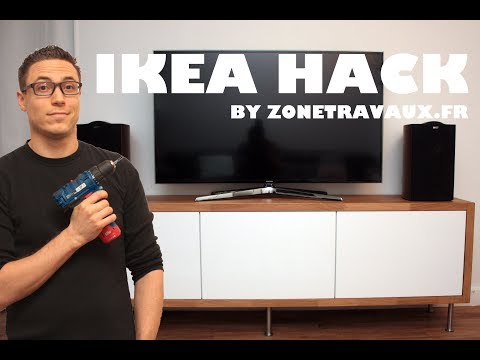 Ikea Hack Diy By Zone Travaux Le Meuble Tv Perso