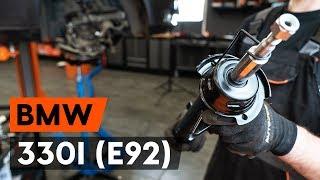 Монтаж на предни и задни Амортисьор на BMW 3 Coupe (E92): безплатно видео