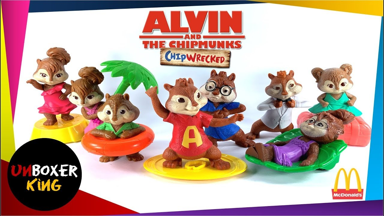 2011 Alvin And The Chipmunks 3 Mcdonald S Happy Meal Complete Set Of 8 Youtube