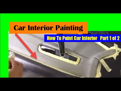 how to paint car interior car interior paint 1 of 2 youtube. Black Bedroom Furniture Sets. Home Design Ideas