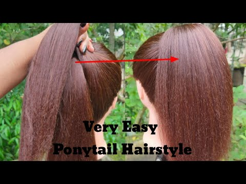 New Trick For High Ponytail Hairstyle || Ponytail Hairstyle || Back To School Hairstyle ||