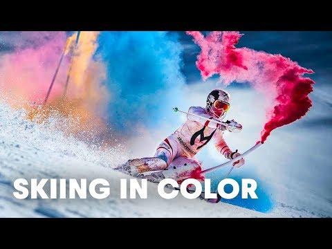 Marcel Hirscher fa slalom nei colori