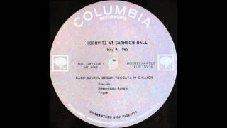 Horowitz At Carnegie Hall ,An Historic Return, side 1