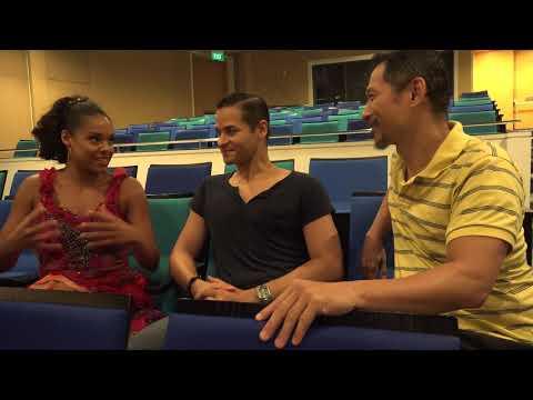 Hawk Liu interviews Keely Beirne, Waldemar Quinones Villanueva West Side Story, Singapore 2017-09-14