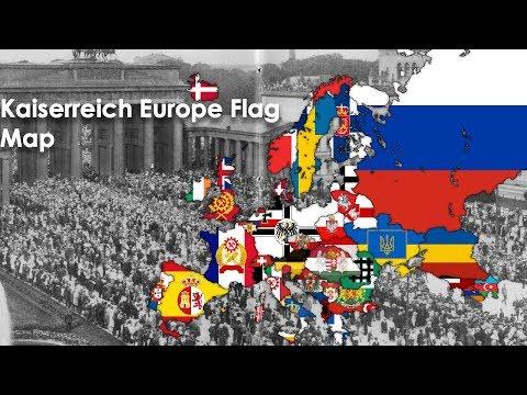 Kaiserreich 1936 Europe Flag Map