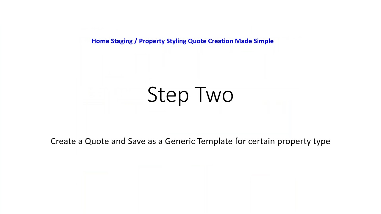 quote creation for home staging styling companies youtube