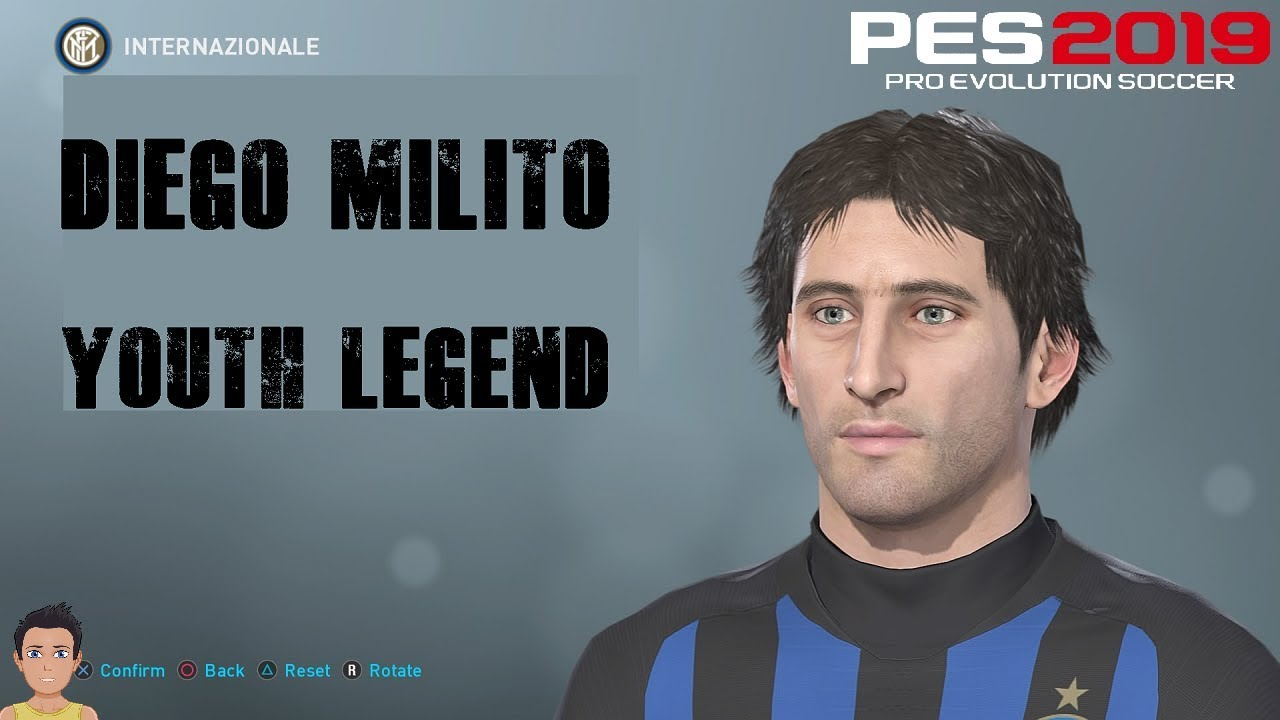Diego Milito - PES 2019 Youth Legend (inc ALL stats & motions)