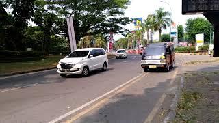 Mal Lippo Cikarang Previous road  インドネシアリッポーチカラン大通り