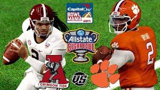 NCAA Football 18 | 2018 Allstate Sugar Bowl🏈  #4 Alabama vs #1 Clemson CFP Semi Finals Gameplay!!