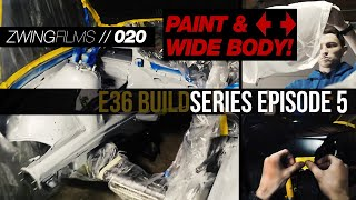 PAINTING MY OWN CAR! & installing the wide body kit // E36 BLD EP: 5 // 020
