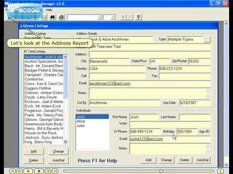 address manager software
