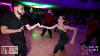 Brandon & Denisse - Salsa Social Dancing | New York International Salsa Congress 2018