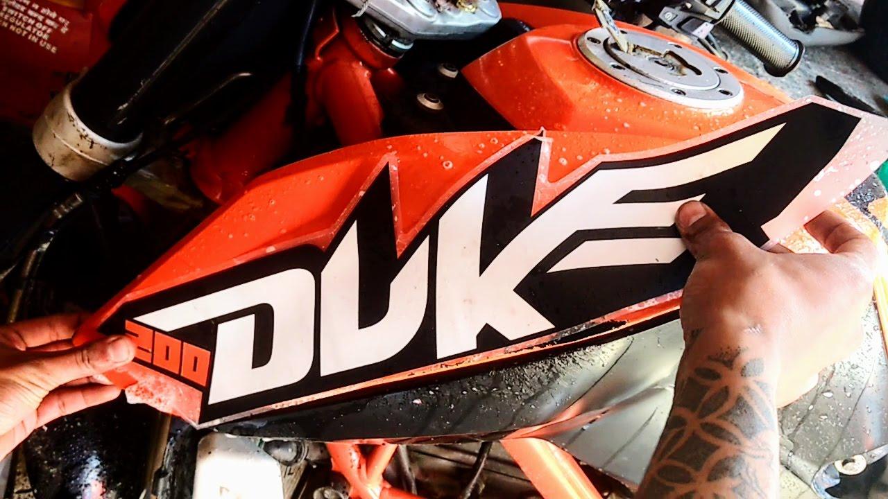 How to apply ktm duke 200 bike body sticker