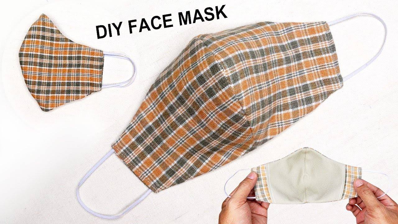 3-layer Fabric Face Mask Sewing Tutorial   How to make a face mask at home easy   with filter pocket