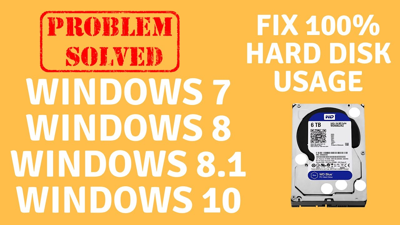 How to Fix Hard Drive Disk 100% Usage