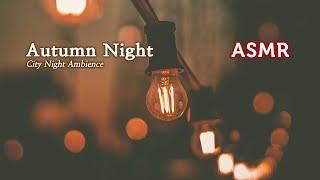 ASMR 잠이 솔솔 도시의 가을 밤소리●아련한 밤의 도시 백색 소음, 풀벌레 소리 | Autumn City …