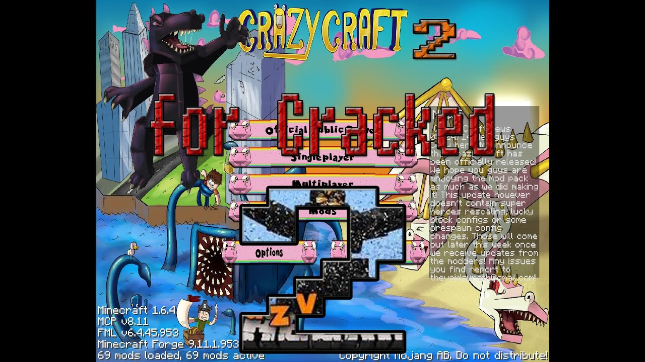 2 download mod for Crazy craft free download