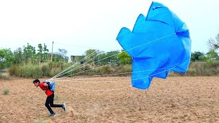 HOME MADE PARACHUTE | Making and Testing | Will It Work?