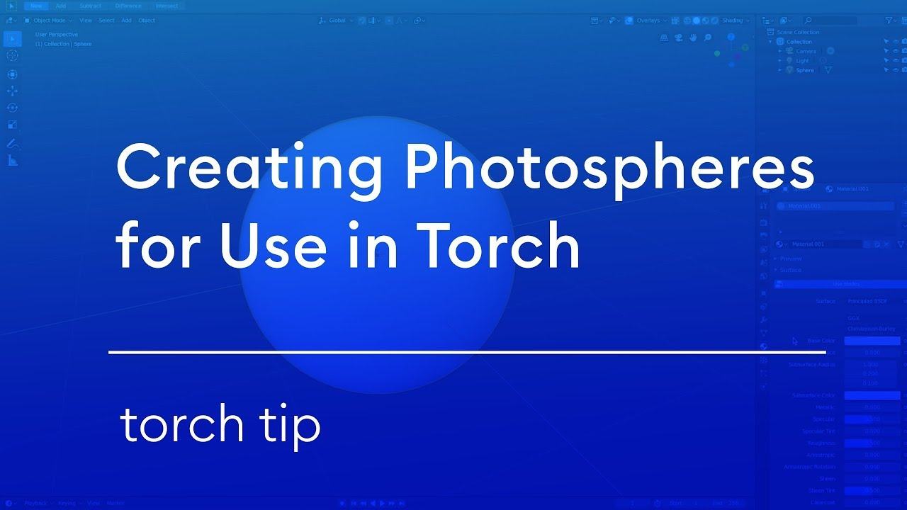 Use Blender to Make Photospheres for AR