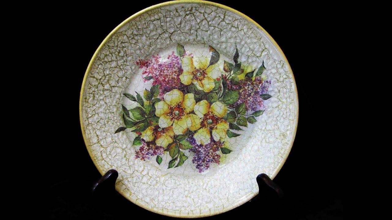 Декупаж тарелок своими руками фото 296