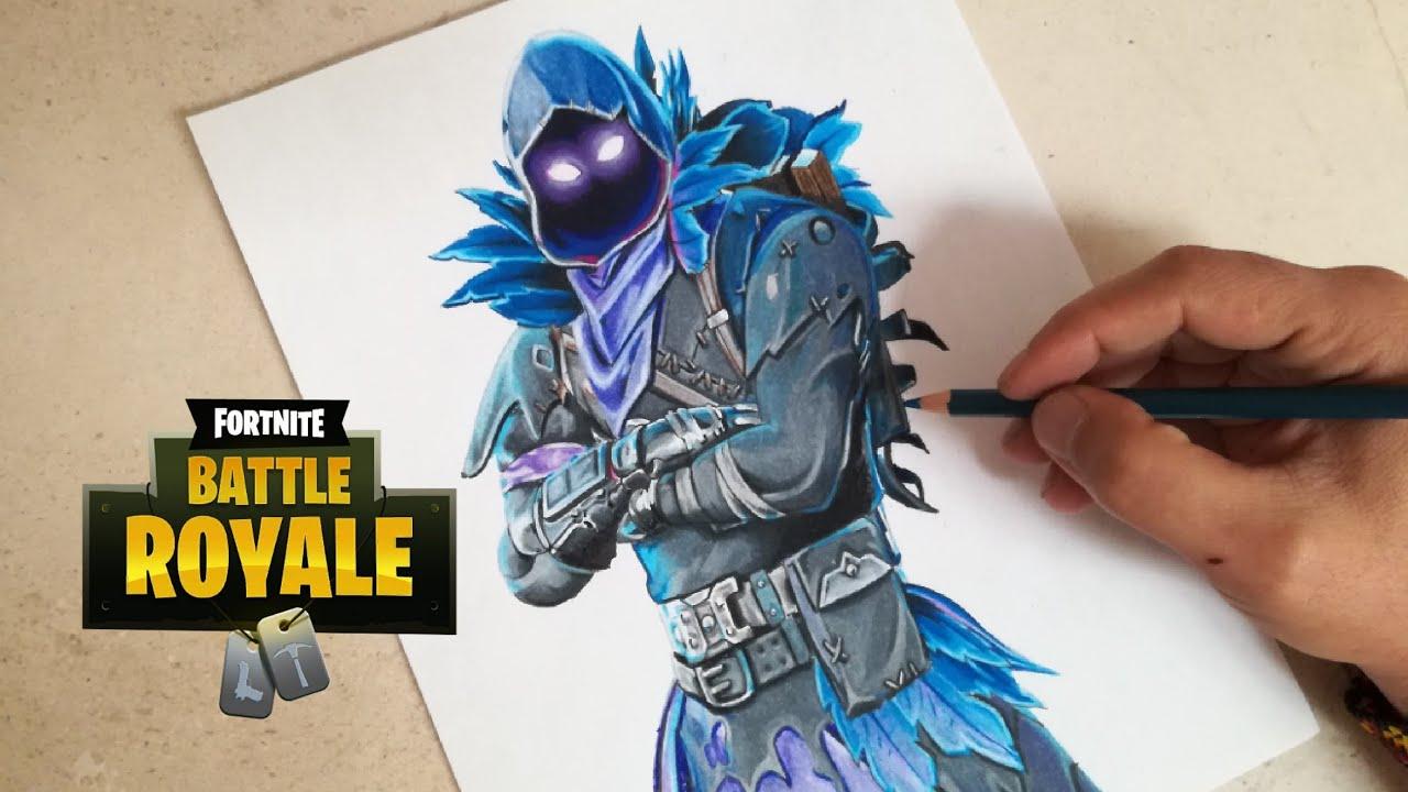 Raven Fortnite Skin Drawing