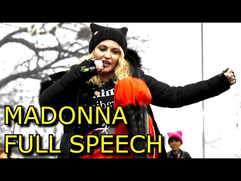 "Madonna Women's March Speech ""Blowing Up The White House"" on Washington Anti Trump FULL SPEECH"