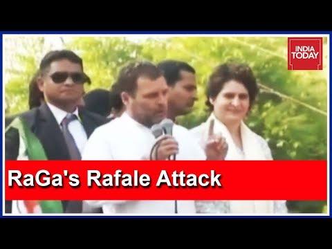 Rahul Gandhi Attacks PM Modi Over Rafale Deal At Lucknow Roadshow