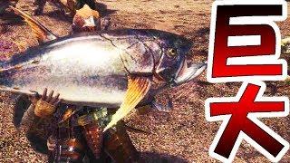 【MHW】新種の魚を探してたらクソデカ魚を釣る男【モンハンワールド実況】