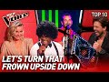 HAPPY & FUNNY Blind Auditions that make you SMILE on The Voice #2 | Top 10