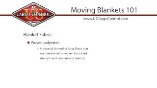 Moving Blankets 101
