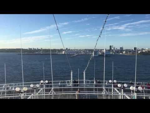 Sail in to Tallinn, Estonia