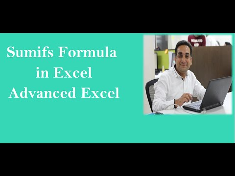 MS Excel Sumifs Formula