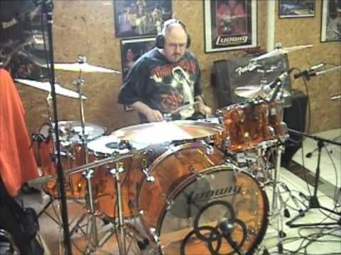 John Bonham Amber Vistalite Reissue Drum Set Solo - JOEDRUMS1