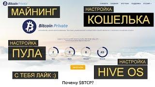 Bitcoin Private (BTCP) пул, майнер, кошелёк. Как майнить Биткоин Приват. Настройки для Hive OS.