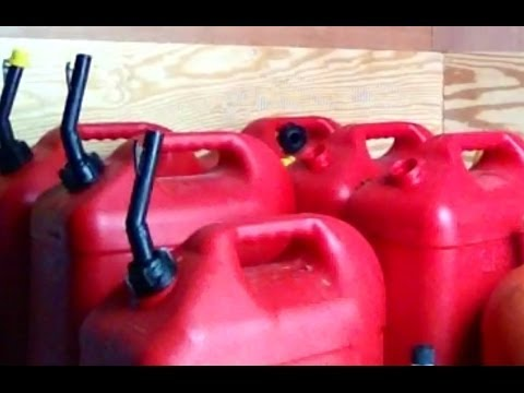 DIY How To Store + Preserve Fuel / Gas / Gasoline / Petrol Super Easy, Cheep, and It Last 1 Year
