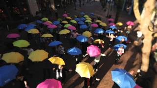 Pioneer Sq. - See You in the Crosswalk - Official Umbrella Flash Mob