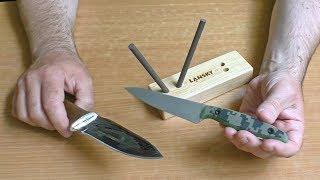 Точу нож после рыбалки