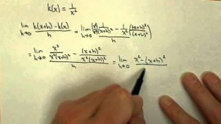 derivative of 1 over x squared using limit definition calc1 21pt4