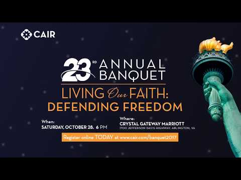 Video: ISNA President Azhar Azeez to Speak at CAIR's 23rd Annual Banquet