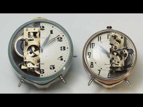 Vintage mechanical alarm clocks, what's inside? Что внутри механичеких часов?