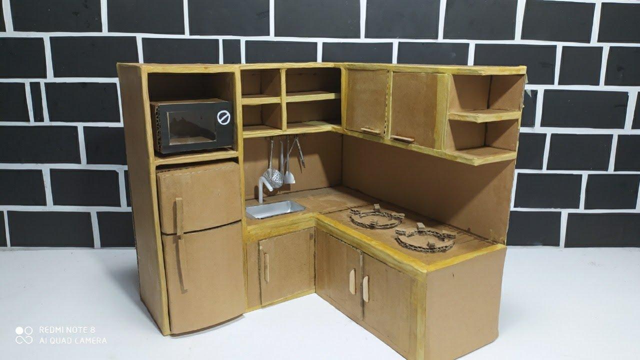 How To Make Miniature Kitchen Youtube