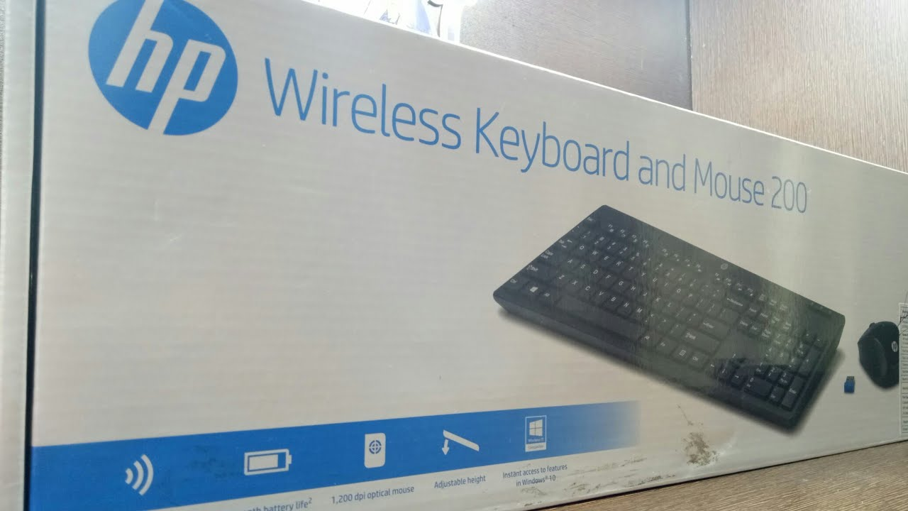 hp wireless keyboard and mouse 200 unboxing and review youtube. Black Bedroom Furniture Sets. Home Design Ideas