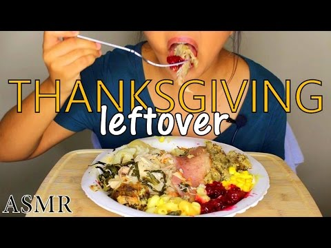 ASMR: Thanksgiving Leftover *Eating Sounds and Whispering*